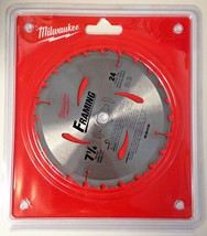 "Milwaukee 48-40-4120 7-1/4"" x 24 Carbide Tooth Framing Circular Saw Blad... - $6.93"