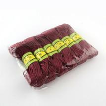 Polyester Cord 6 bundles in bag Rosie Brown  ea bundle 20m  LONG PC99  <> - $5.47