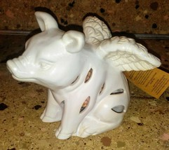 "Pig with Wings Figurine Potpourri Scent Diffuser Ceramic 4"" Fragrance Sa... - $19.79"