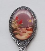 Collector Souvenir Spoon Christmas 1995 Cardinal Country Cabin Snowy Night - $4.99