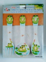"FROG Large 17"" Spoon & Fork Wall Decor Set NEW Hand Painted  - $10.00"