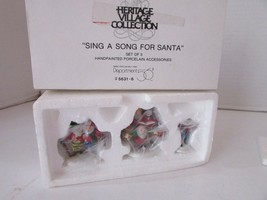 DEPT 56 56316 SING A SONG FOR SANTA HERITAGE VILLAGE ACCESSORY SET OF 3  D7 - $14.65