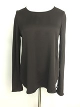 Theory Womens Top Stretch Brown Sheen Rounded Sides Size PS - $19.95