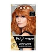 2 x L'Oreal Preference 74 DUBLIN MANGO COPPER Ginger Hair Dye Permanent ... - $37.11