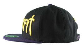 Trukfit Noir Hommes Violet Jaune Galaxy Baseball Casquette Chapeau T1208H09 Nwt image 3