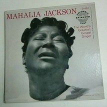 1955 MAHALIA JACKSON WORLD GREATEST GOSPEL SINGER 2 RECORD SET 45 PICTUR... - $34.65