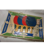 Vtg 1960s Don Budge Regent Table Tennis Set Wood Paddles~Net~Balls Complete Box - $16.25