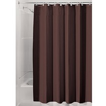 InterDesign Water-Repellent and Mildew-Resistant Fabric Shower Curtain, ... - $18.45