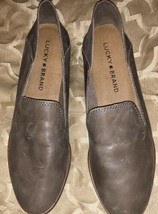 Lucky Brand Women's Leather Loafer size 7 Taupe - $48.37