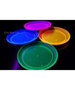 Blacklight Reactive 9 Inch Plastic Party Plates- 20 ct. - $8.95