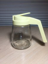 Vintage 60s Federal Housewares Small Syrup/Honey Dispenser with yellow handle image 1