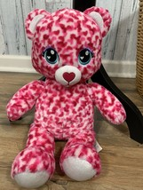 "Build A Bear Pink Leopard Cat 17"" Plush Heart Soft Toy BAB 2017 - $13.86"