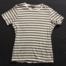 H&M Striped Women's Black and White T Shirt Short Sleeves Sz. M - $12.99