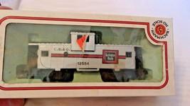 HO Scale Bachmann 36' Caboose, CB&Q Burlington, Silver, #13554 BNOS - $22.28