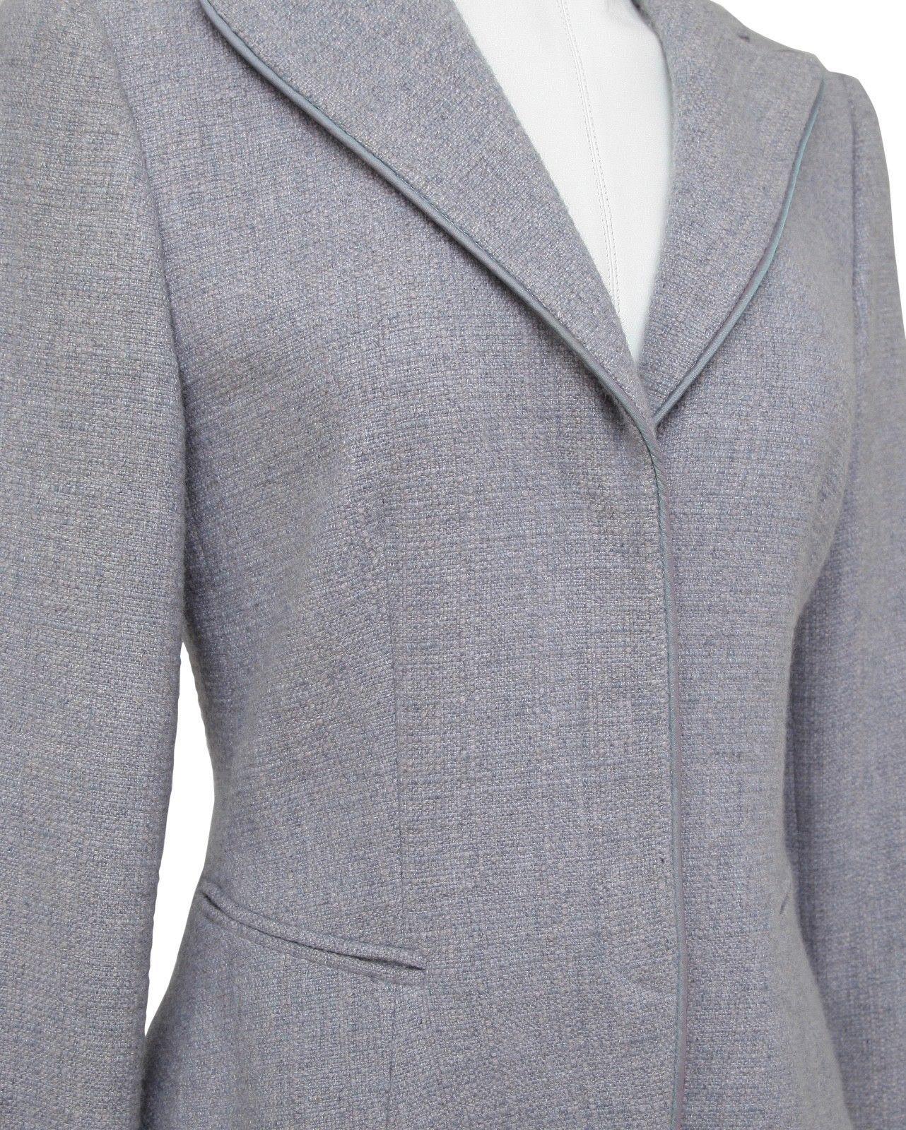 GIORGIO ARMANI Blazer Jacket Lavender Cashmere Classic Dress Sz 38
