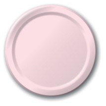 "Light pink 6 7/8"" Dessert Paper Plates 24 Per Pack heavy duty - $3.42"