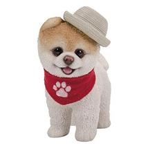 Pacific Giftware PT Short Hair Boo Dog with Straw Hat Cowboy Scarf Home Decorati - $24.74
