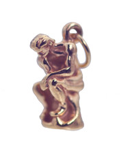NICE 18K Rose Gold Plated Artistic Rodin The Thinker Statue Silver Jewel... - $19.75