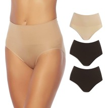 Yummie Seamless Shaping Brief 3-pack in Black/Black/Frappe, 2X/3X (607706) - $38.60