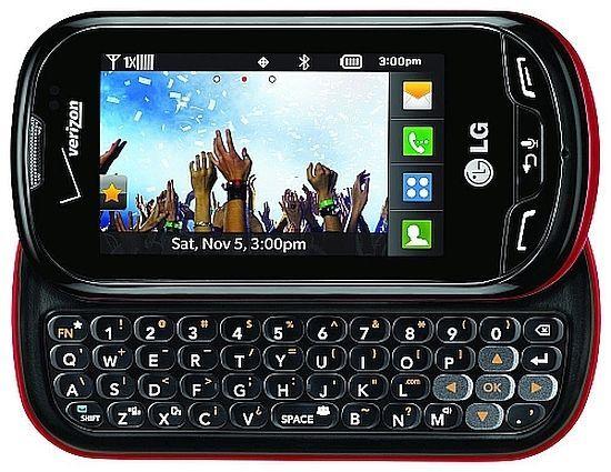 LG Extravert VN271  RB Black Red (Verizon)(Page Plus) QWERTY Slider Cell Phone