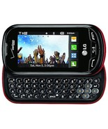 LG Extravert VN271  RB Black Red (Verizon)(Page Plus) QWERTY Slider Cell... - $36.60