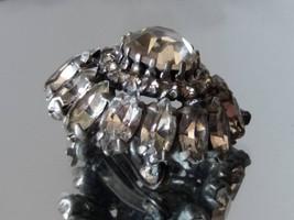 Clear Rhinestones Vintage Brooch Rustic Wedding Gift for Her Vintage Cry... - $25.00