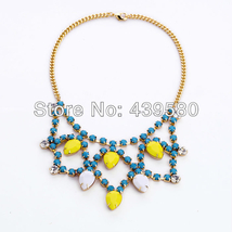 Gold Color Chain Prong Shell Chain Women Colorful ST. - $21.73