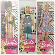 New 3 BARBIE Lot  FASHIONISTAS and Ken Barista Barbie  - $33.00