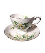 Royal Tuscan Cup Saucer | Teacup Set Bone China Orange Blossoms  - $49.00