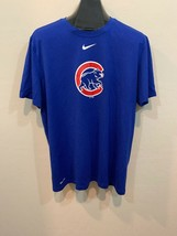 Nike Dri-Fit The Nike Tee Short Sleeve Blue Chicago Cubs Logo Athletic C... - $24.58