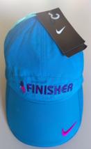 Nike Women's Blue Pink Logo FINISHER Running Hat Cap #502903 424  - $17.00