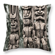 Three Tikis, Throw Pillow, seat cushion, fine a... - $41.99 - $69.99