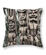 Three Tikis, Throw Pillow, seat cushion, fine art, home decor, accent - $41.99 - $69.99