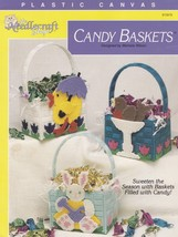 Candy Baskets Plastic Canvas Pattern Booklet TNS 913919 Easter Bunny Duc... - $3.95