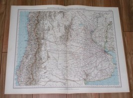 1927 VINTAGE ITALIAN MAP OF ARGENTINA AND CHILE BUENOS AIRES / SOUTH AME... - $17.67