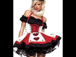 Queen of Hearts Costume - Adult LARGE 10/12 - Dress Only - Super Cute!!! - $20.00