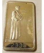1973 Columbus Mint Thanksgiving Turkey Nickel Metal Art Bar Bullion 2338 - $11.09