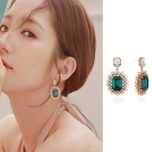 MENGJIQIAO 2019 New Korean TV Star Elegant Crystal Long Trassel Drop Ear... - $13.14