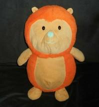 "14"" Animal Adventure 2017 Orange & Tan Hedgehog Stuffed Plush Toy Soft Lovey - $23.38"