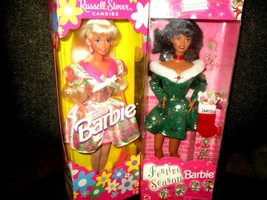 Pair of Barbie Dolls 1996 Russell Stover Candies & 1997  Festive Season ... - $15.00