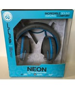 JLAB Neon Wired On Ear Foldable Headphones With Track Control - $12.19