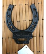 RUSTIC LARGE HORSESHOE WALL MOUNT BOTTLE OPENER BEER SODA CAST IRON - $7.91