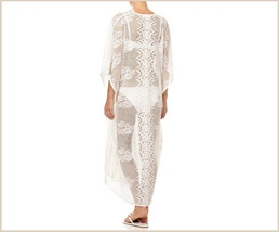 Bohemian Style Crochet Flower Lace Flirt Shirt Long Cover Up Beach Tunic  image 2