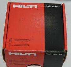 Hilti 433022 Kwik Con II PLUS TORX HWH 1/4 in x 2-1/4in silver screws 100 pc image 4