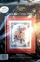 1986 Golden Bee Stitchery, Inc. 60239 Roses Picture New & Sealed - $12.86