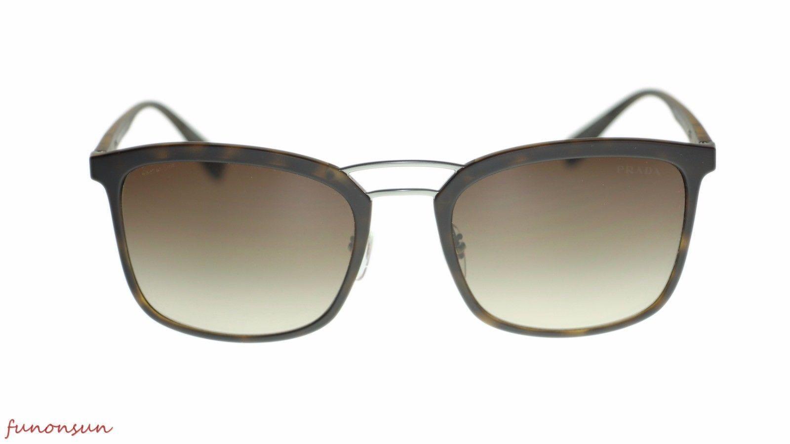 Prada Men's Sunglasses PS03SS U61S1 Havana Brown Gradient Lens 56mm