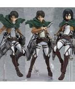 Anime Attack on Titan 15cm Eren Mikasa Ackerman Levi/Rivaille Figma PVC ... - $43.99