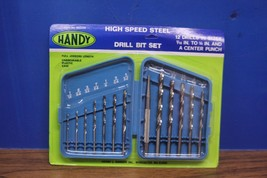 "HANDY 13 pc Hand High Speed Steel Drill Bit Set 1/16"" To 1/4"" and Acente... - $9.99"