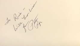 Patti Page Autographed Hand Signed 3x5 Index Card American Singer w/COA To Rick - $18.99