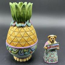 Boyds Bears Resin Mrs Wilkommens Pineapple Puzzle Box Bearstone J Shore 4020857 - $44.54
